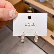 Korean Style 925 Silver Needle Versatile Personality Temperament C- Shaped Earrings Exquisite Net Red Wind Petite Earrings