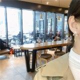 Korean Style 925 Silver Needle Star and Moon Earrings Sweet Cute Rhinestone Hollow Personality Double Star Moon Stud Earrings