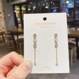 Geometric Small Circle 925 Silver Pin Earrings Korean Style Inlaid Zircon Stud Earrings All-Match Lady Party Graceful Earrings
