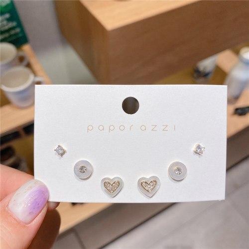 Korean Ins Style Lovely Natural Shell Earrings Sterling Silver Needle Set Earrings Fashion Women