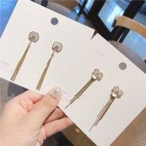 925 Silver Needle Elegant Lady Online Influencer Earrings Female Korean Silver Pin Shell Earrings Zircon Stud Earrings Female