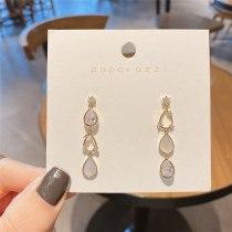 Fresh Long Fringe Earrings Sterling Silver Needle All-Match Temperament Earrings Luxury Zircon Stud Earrings for Women