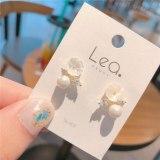 Creative 925 Silver Needle Flower Earrings Sweet Elegance Fresh Cute Earrings Ear Internet Celebrity Earring