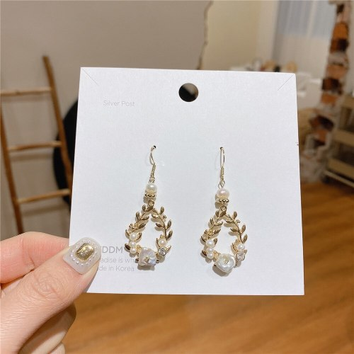 Fashion Baroque Court Vintage Earrings Freshwater Pearl S925 Sterling Silver Needle Luxurious Style Earrings