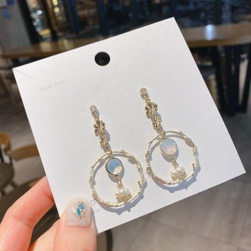 Cold Style Baroque Pearl Earrings Sterling Silver Needle Korean Style Net Red Wind Earrings Temperament