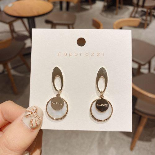 New Product Korean Fashion Earrings Wholesale S925 Silver Pin Shell Earrings All-Matching Graceful Circle Earrings