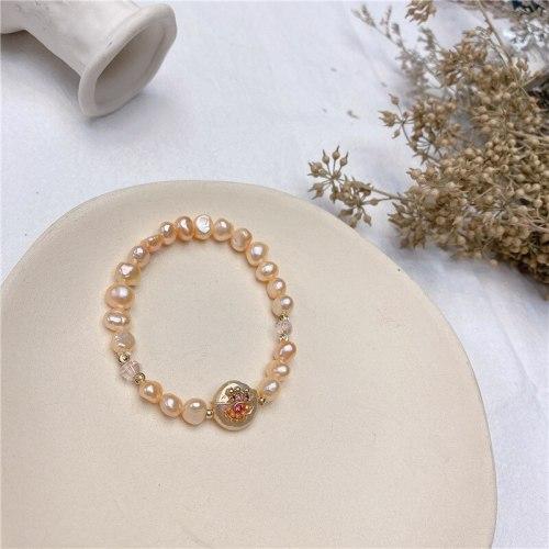 Creative Pearl Bracelet Baroque Freshwater Pearl Elastic String Graceful Online Influencer Bracelet Cross-Border Jewelry