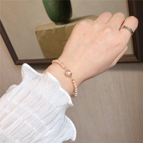 Korean Style Handmade Series Baroque Freshwater Pearl Bracelet Temperament Online Influencer Fashion Carrying Strap