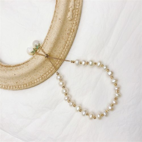Korean Style Personal Influencer Same Style Handmade Bracelet Freshwater Pearl Grace Bracelet Adjustable Sweet Lady Bracelet