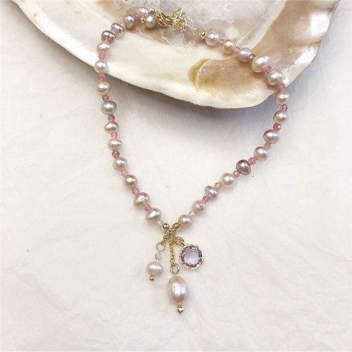 Korean Style Freshwater Pearl Baroque Lady Temperamental Bracelet Vintage Handmade Bracelet Female Ornament