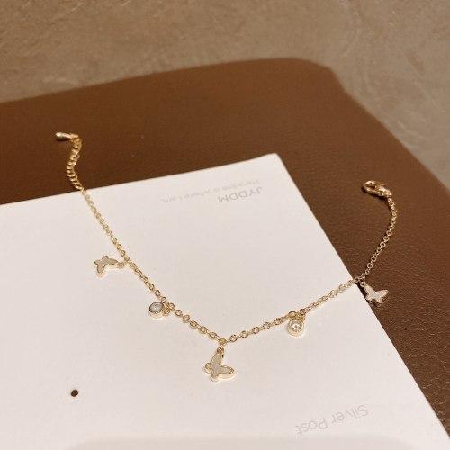 Korean New Hot Selling Bracelet Women's Creative Shell Butterfly Bracelet Trendy Simple Elegant Sweet Style Bracelet