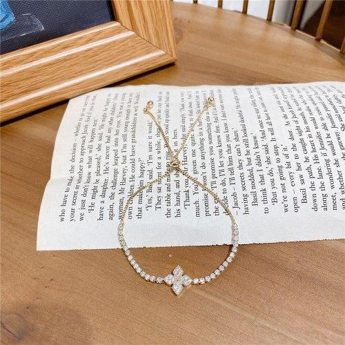 Korean Pull-out Zircon Flower Bracelet Elegant All-Match Internet Celebrity Carrying Strap Jewelry