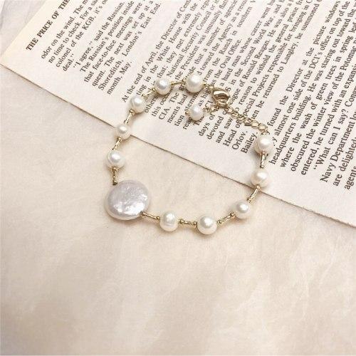 Korean Freshwater Pearl Bracelet Baroque Small Pearl Bracelet Simple Bracelet Temperament Hand Jewelry