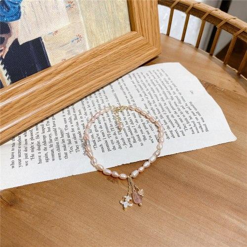 Korean Design Baroque Freshwater Pearl Bracelet Net Red Wind Temperament Wild Personality Carrying Strap Bracelet