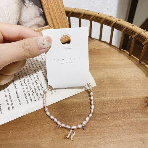 Korean Style Baroque Freshwater Pearl Bracelet Instafamous Design Sense Fresh Bracelet Carrying Strap Simple Graceful Bracelet