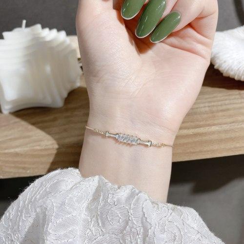 New Current Geometry Bracelet High-Grade Letter Shell Bracelet Creative Drawable Bracelet