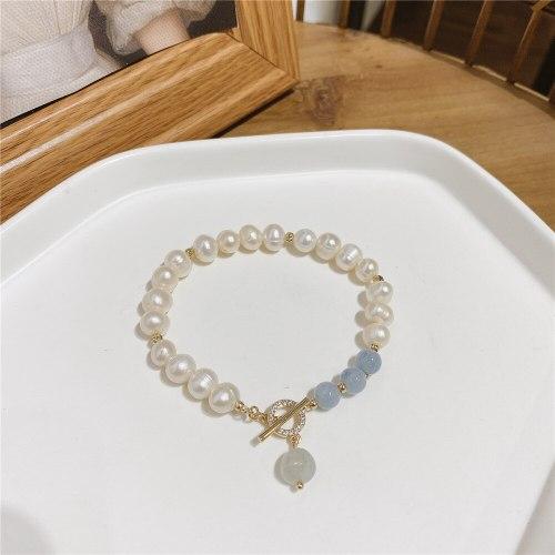 Korean Fashion Internet Celebrity Same Type Light Luxury Baroque Freshwater Pearl Bracelet Temperament Simple Bracelet