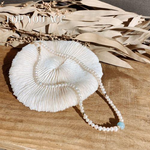 Vintage Ornament Women's Minimalist Design Freshwater Pearl Necklace Versatile for Socialite Style Fashion Short Necklace