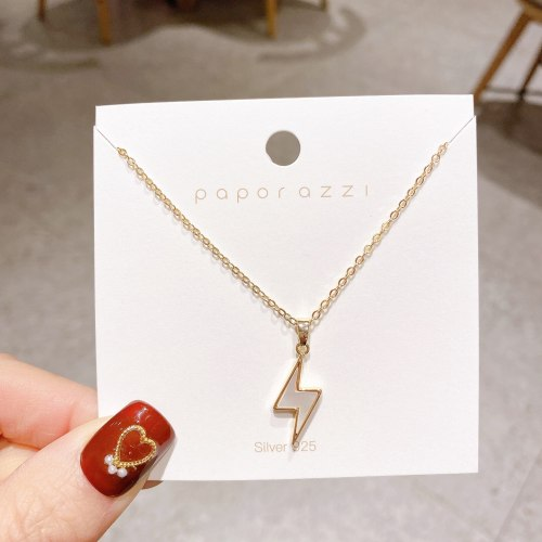 Unique Design Necklace Creative Lightning Shell Clavicle Chain Female Simple Internet Influencer Fashionmonger Necklace