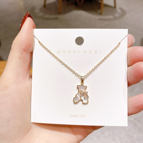 Japanese and Korean Style Online Popular  Necklace Wholesale Korean Cute and Graceful Shell Simple Clavicle Chain Female