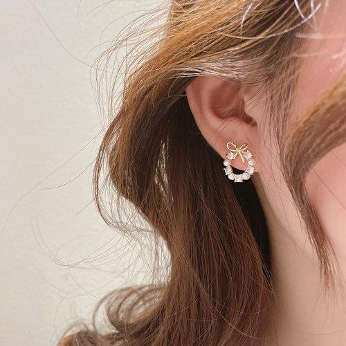 Tiny Bow New Trendy Earrings Internet Influencer Temperamental Earrings S925 Sterling Silver Needle Korean Earrings