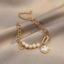 Smiley Baroque Natural Pearl Bracelet Special-Interest Design High Sense New Girlfriends Girls Bracelet Ornament