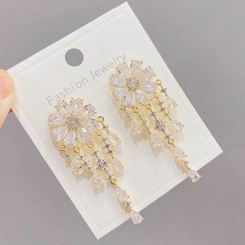 Xingyue Zircon Pearl Earrings Personality and Fashion Creative Stud Earrings Sterling Silver Needle Ear Rings