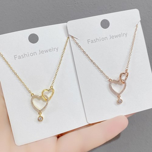 Special-Interest Design Light Luxury High-Grade Simple Love Necklace Clavicle Chain European and American Ornament