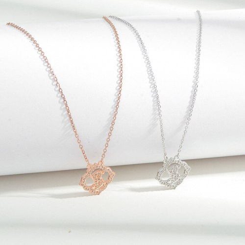 Korean Style Fashion Gold Plated Inlaid Zircon Flower Necklace Niche Design Graceful Personality Clavicle Chain