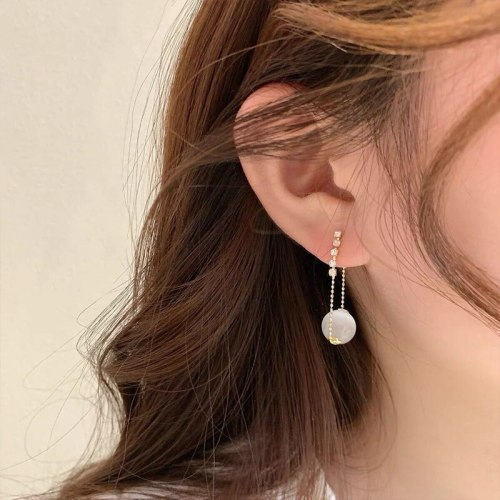 French Style High Sense Sterling Silver Needle Ear Studs Niche Design Light Luxury Ornament