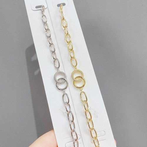 Hot Sale Thick Chain Bracelet Alloy Full Diamond Bracelet Ins Cuban Hip Hop Fashion Fashionmonger Bracelet Wholesale