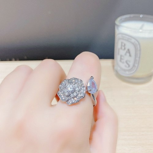 Niche Design Online Red Female Ring Sweet Gift All-Match Little Daisy Petals Live Open Ring