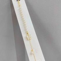 Xiaoqing Xinwei Inlaid Zircon Fritillary Butterfly Bracelet French Style Freshwater Pearl Bracelet Temperament Bracelet