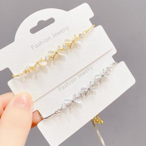 Bow Full Diamond Bracelet Bright Crystal Pull Adjustment Beads Bracelet Student Girlfriend Gifts Hand Jewelry