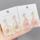 Transparent Water Drop Earrings Exaggerated Personalized Temperament Sterling Silver Needle Long Fringe Earrings