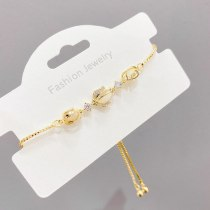 Women's Korean-Style Fashionable Copper-Plated Gold-Plated Pull Bracelet Niche Design Light Luxury Tulip Jewelry Wholesale
