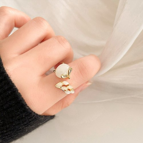 Designed Fox Ring Female Ins Trendy Special-Interest Design Cold Wind Net Red Open Ring Index Finger Ring