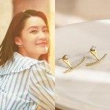 Earrings Wearring by Online Celebrities New Sterling Silver Needle Stud Earrings Summer Smile Earrings for Women