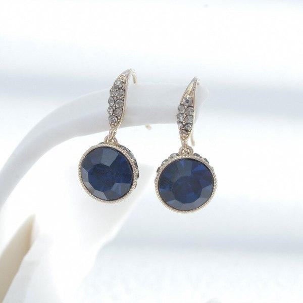 Sterling Silver Needle Copper Micro Zircon-Encrusted Stud Earrings Female Niche Design Personalized Earrings Slim Face Earrings