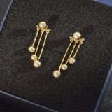 Korean Fashion Earrings Sterling Silver Needle Small Balls Stud Earrings Three-Dimensional Tassel Earrings Exquisite Earrings
