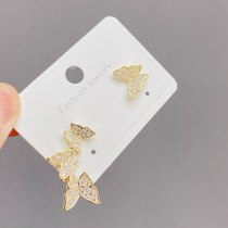 All-Matching Graceful Butterfly Earrings Female Online Influencer Tik Tok Live Stream Earrings Full Diamond Butterfly Earrings