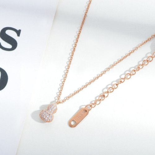 New Gourd Necklace Female Ethnic Style Fashion Retro Korean Type Micro Inlaid Zircon Necklace Clavicle Chain Jewelry