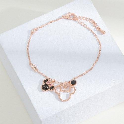 Mickey Mouse Red Zircon Bracelet Japanese and Korean New All-Matching Girls' Bracelet