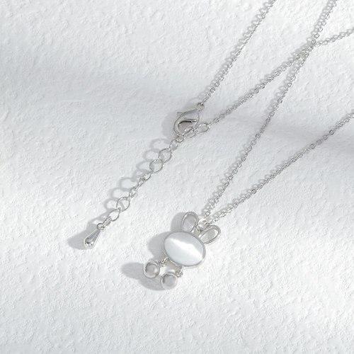 Titanium Steel Necklace Light Luxury Minority Design Rabbit Pendant Internet Celebrity Temperament Clavicle Chain Ornament