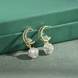 Sterling Silver Needle Stud Earrings for Women Elegant Zircon Ball Exquisite Lucky Beads Diet Balls Earrings Earring Ornament