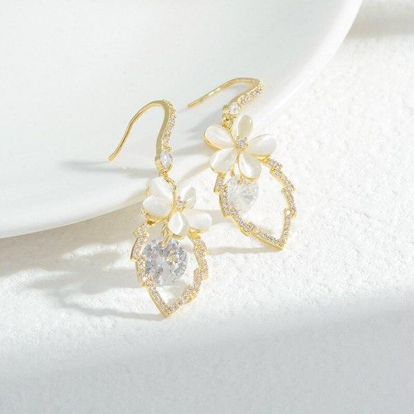 Sterling Silver Needle Opal Earrings Hot Sale European and American Ornament