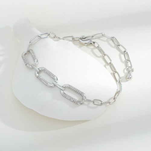 European and American Ins Style Special-Interest Design Geometric Diamond Bracelet Fashion All-Match Pull-out Chain Bracelet