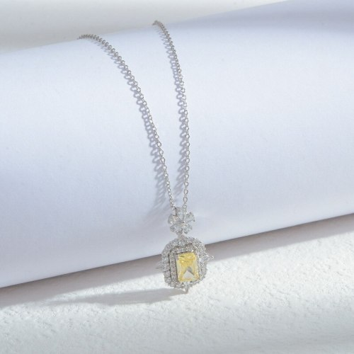 INS Cool Wind Micro Inlaid Zircon Full Diamond Necklace Female Special-Interest Design High Sense Clavicle Chain Jewelry