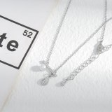 Fashionable Micro Inlaid Zircon Full Diamond Pearl Necklace Women's High-Grade Exquisite Light Luxury Clavicle Chain