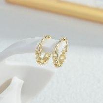 Sterling Silver Needle Micro Inlaid Zircon Chain One Card Three Pairs Set Stud Earrings Female Korean Style Earrings